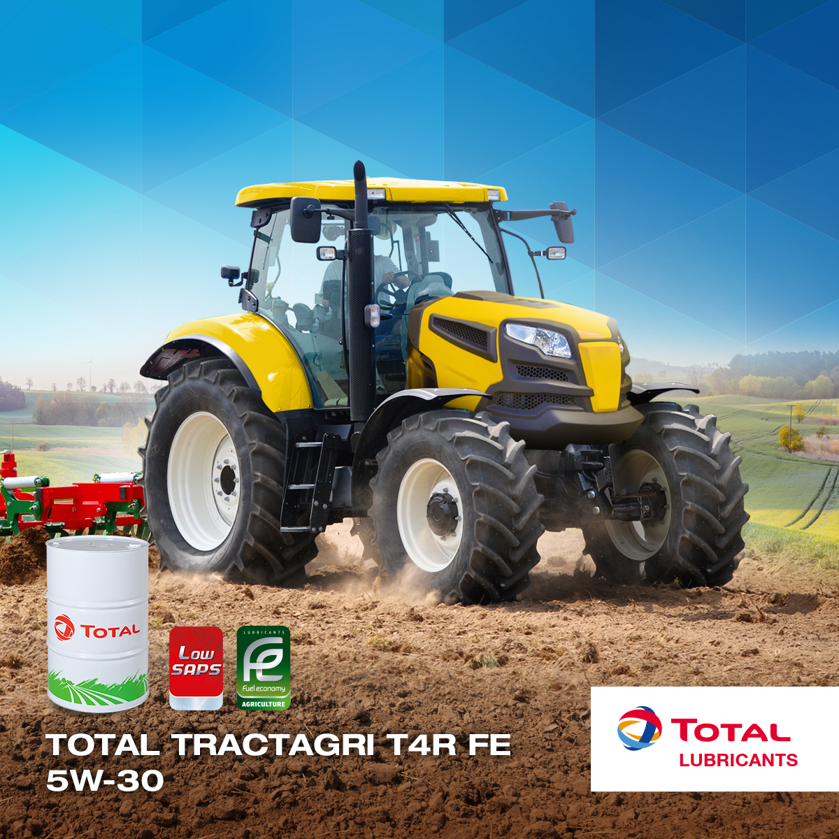 Total Tractagri agricultural engine oil
